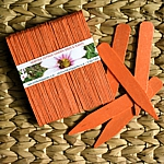 Orange Eco-Friendly Wooden Plant and Seed Labels